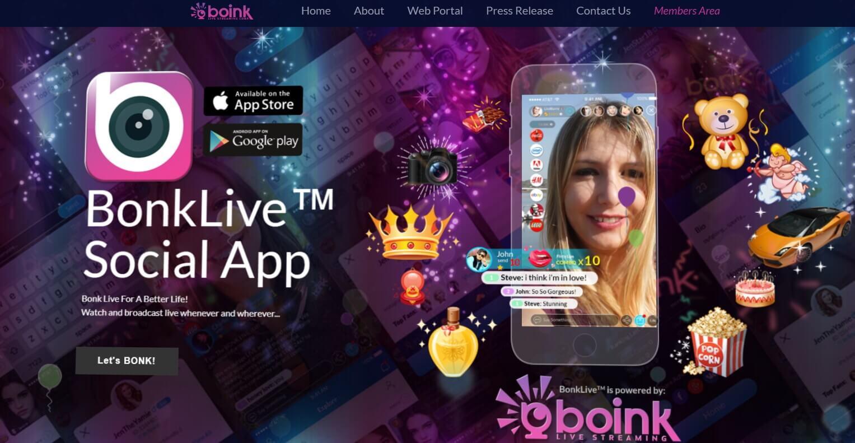 Boink Live Streaming входит в криптовалютный рынок
