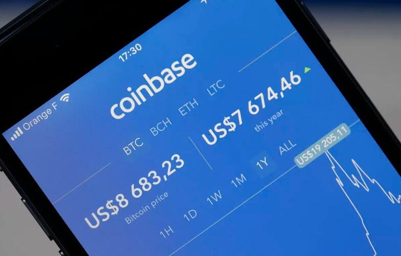 Криптовалюта в реальном времени от Coinbase