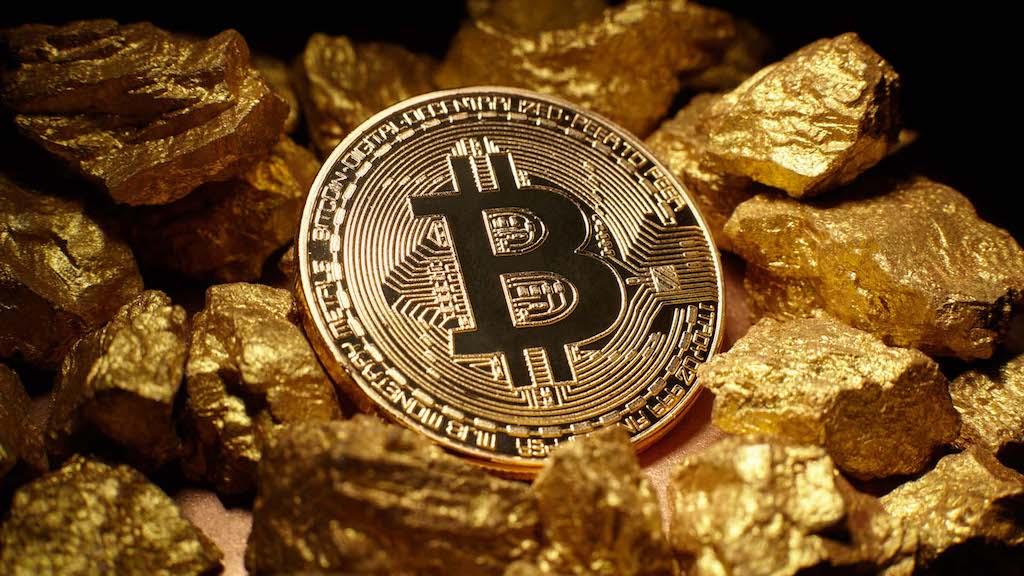 Капитализация BTC достигла 1,62% по отношению к золоту