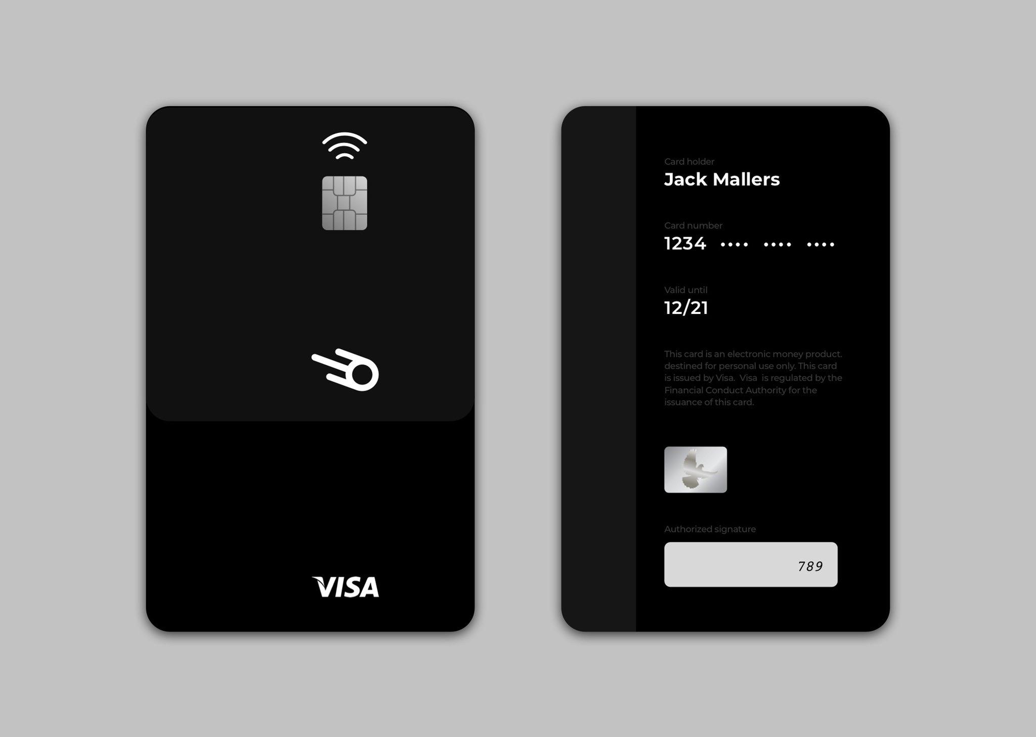 Платёжная карта VISA для BTC