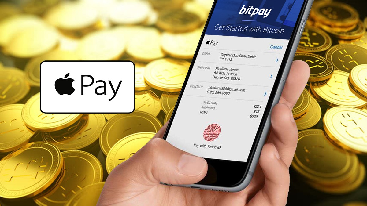 Оплата биткоином в Apple Pay