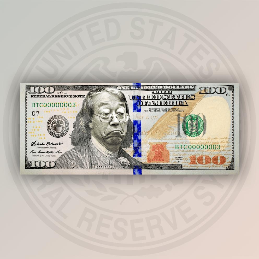 Можно купить доллары с «изображением Сатоши»