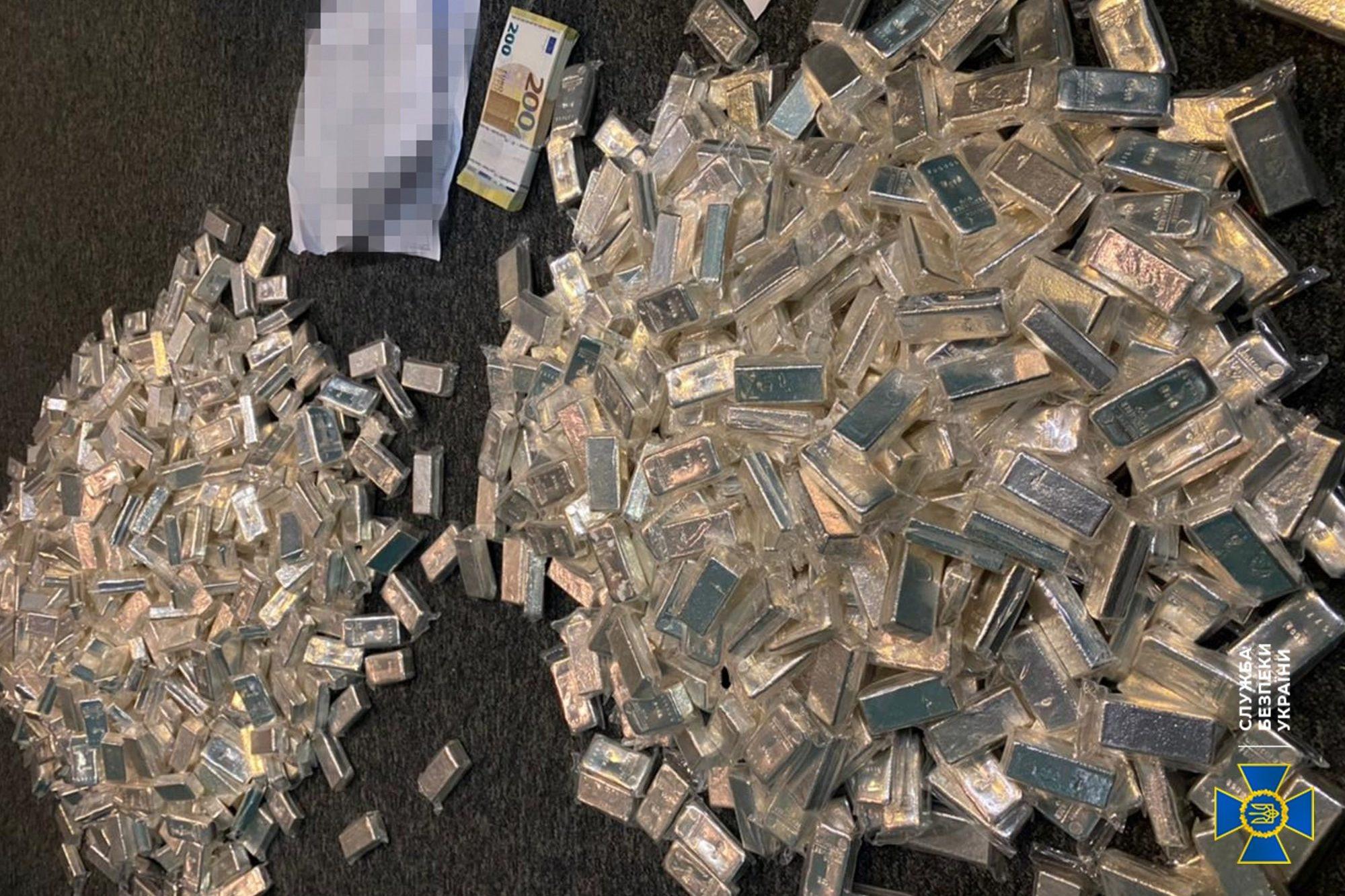 СБУ изъяла 800 кг серебра у BTC-обменника
